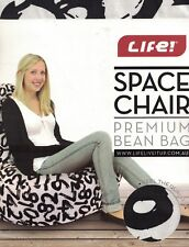 LIFE! SPACE CHAIR BLACK NUMBERS PREMIUM BEAN BAG NEW NEVER USED