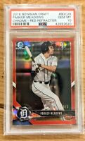 PARKER MEADOWS 2018 Bowman Draft 1st Chrome RED Refractor */5* SSP Tigers RC