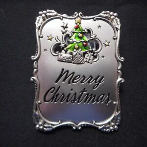 """NEW Mini Plaque/Ornament """"MERRY CHRISTMAS"""", from Ganz"""