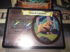 HARRY POTTER TCG CARD CHAMBER OF SECRETS CRAZED CAPYBARA 8/140 RARE FOIL MINT EN