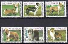 Chiens Afghanistan (2) série complète de 6 timbres oblitérés