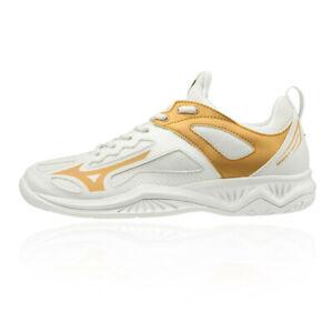 Mizuno Womens Ghost Shadow Handball Shoes White Sports Netball Breathable