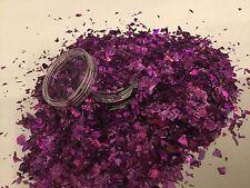 Hermoso Brillo Mezcla Nail Art Púrpura Mylar para acrílico y gel de aplicación