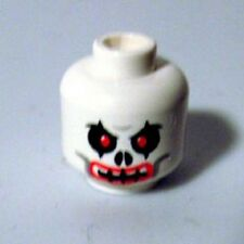 LEGO - Minifig, Head Skull Evil with Red Eyes and Red Lips Pattern - White