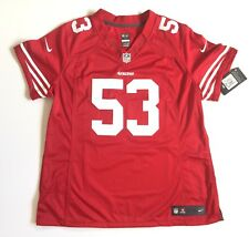 NIKE ONFIELD SAN FRANCISCO 49ERS BOWMAN WOMEN'S JERSEY STITCHED 53 NEW XL $145