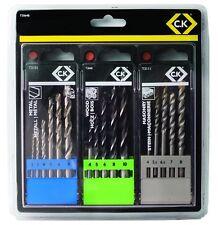 C.K. T3064B Drill Bit Set para mampostería/Metal/Madera (16 Piezas)