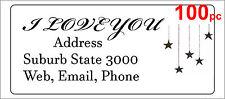 100 Personalised return address label custom mailing sticker 56x25mm stars