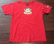 Paul Frank Unisex Red Monkey Glasses Graphic Short Sleeve Tee Shirt Sz M