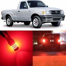 Alla Lighting Brake Turn Signal Light 4157K Red LED Bulbs for Mazda B2300 B4000