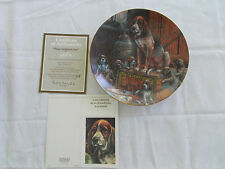 """Schmid Lowell Davis 8 1/2"""" Collector Plate """"Plum Tuckered Out"""" Signed #309 1980"""