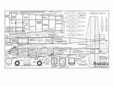 RCM Super Kaos Jr Full Size Model Airplane Kit Printed Plans