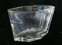 Vintage CESKA Glass Vase CUT Prism Octagonal Design CZECH REPUBLIC Euro Art