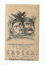 VTC VERY EARLY Dowling Grocer PATERSON NJ LATE 1870's Couple