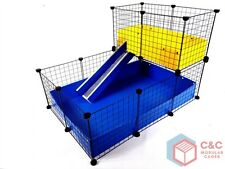 TWO TIER GUINEA PIG C&C CAGE 3x2 + LOFT + RAMP - 2 CORREX TRAYS INCLUDED