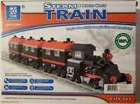Steam Train Blocks World Building Block Boxed Set - 363pcs