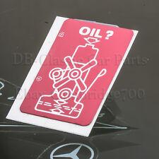 MERCEDES Warn - Aufkleber W113 W114 W115 W116 W123 W126 W201 ÖL OIL Motorölstand