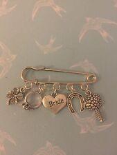 Wedding Bridal Garter Dress Good Luck Pin Present Charm Keepsake