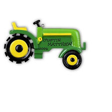 Personalized John Deere Tractor Baby Boy's First Christmas Ornament