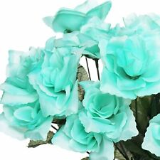 84 Artificial Open Roses Wedding Flowers Bouquets For Party Events Decoration