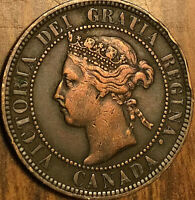1896 CANADA LARGE CENT PENNY LARGE 1 CENT COIN - Cleaned