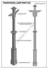 TRADITIONAL LAMP POST LIGHT V01 - Construction Plans 2D & 3D - BUILD & SAVE $$$