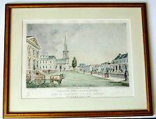 View of KING STREET-Toronto in UPPER CANADA-Ltd Ed Litho