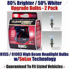 2-Pack Upgrade High Beam Headlight Bulbs 80% Brighter 50% Whiter 01003/H155CVSU2