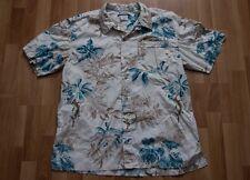 Men's Columbia Tropical Floral Fish Short Sleeve Button Down Shirt, SZ L