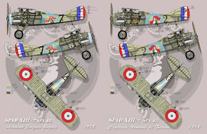 """[ FFSMC Productions] Decals 1/48 Spad XIII Spa 48 """" Sings And Combat """""""