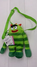 "YO GABBA GABBA BROBEE 10"" KID PLUSH SHOULDER BAG WITH POCKET NEW 100% ORIGINAL"