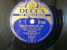 "78 rpm 10"" BILLY COTTON rollin down the line / i speak"
