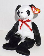 """Ty Beanie Baby """"Fortune"""" Panda Bear 12/6/1997 Tush Errors RARE Smoke-free"""