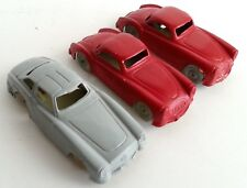Vintage Lot of 3 Plastic Toy Cars INGAP made in Italy Sport Roadster HO Scale