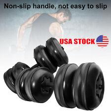 16-20KG Water-Filled Dumbbells Training Fitness Barbell Kit Anti Impact Portable