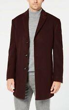 Calvin Klein Prosper Mens Wool Coat Burgundy 42L r.r.p £300