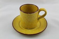 Cup Of Coffee With Plate Ceramic Enamel