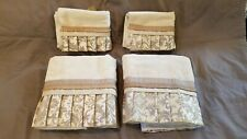 Avanti Decorative Towel set Empress Brown/Gold 100% Cotton New with tags