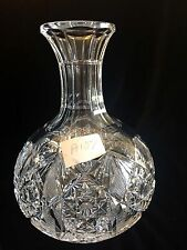 "Hawkes Water Wine Carafe Decanter American Brilliant Crystal 3+lb 8x6"" A107"