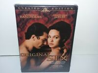Original Sin (DVD, Canadian Unrated, Widescreen, Angelina Jolie) NEW - Extras