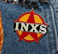 Nos vtg 80s 1988 licensed Inxs enamel pin * for shirt jacket hat