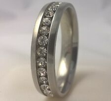 G-Filled Mens 18k gold simulated diamond wedding ring 6mm band bling 14.5 AU Z+4