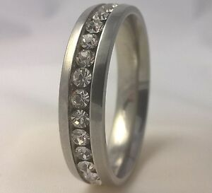 G-Filled 18k gold Mens simulated diamond wedding ring 6mm band bling 14.5 AU Z+4