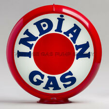 "Indian Bullseye 13.5"" Gas Pump Globe w/ Red Plastic Body (G217)"