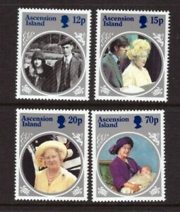 Ascension MNH 1985 The Queen Mother set mint stamps