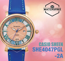 Casio Sheen Swarovski Crystals 3-Hand Analog Series Watch SHE4047PGL-2A