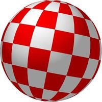 "COMMODORE AMIGA BEACH BALL - 3"" X 3"" - SET OF 2"