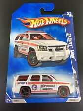 HOT WHEELS 2009 HW CITY WORKS '07 CHEVY TAHOE #02/10 WHITE FACTORY SEALED