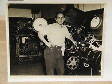 Old Peerless Magnarc 35mm movie theater projector photo J.E. McAuley Mfg. Co.