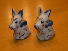 Cutest Vintage Scotty Scottie Scottish Terrier Dogs Salt pepper Shakers Japan