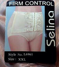 Women Extra Front Cover Holder Control Panties,Briefs Size XXL MochaBeige Satin
